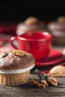 Muffin und eine Tasse Kaffee foto