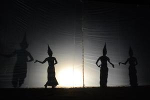 Silhouette des Engels foto