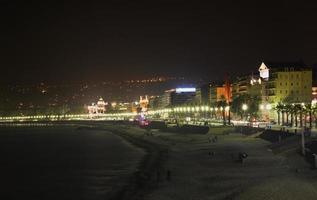 Promenade des Anglais in schön. Frankreich foto