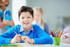 glücklicher Schüler