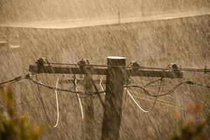 Sonnenschutz-Strommast foto