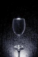 Wasser auf Glas foto