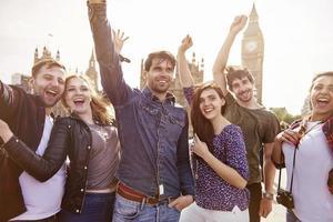 Gruppe der besten Freunde in London