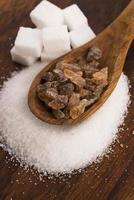 verschiedene Arten von Zucker foto
