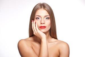 Schönheitsmodell Mädchenporträt foto