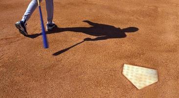 Home Plate Teig im Baseball foto
