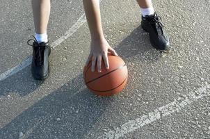 Basketball auf der Straße foto
