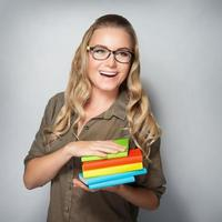 fröhliche Studentin foto