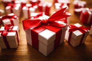 Geschenkbox mit Holz foto