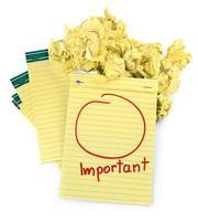 Kopierplatz für wichtige Notizen foto