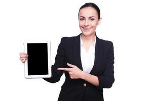 Kopieren Sie Speicherplatz auf ihrem Tablet. foto