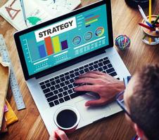 Strategieplan Marketingdaten Ideen Innovationskonzept foto