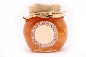 Marmeladenglas mit Speicherplatz foto