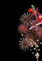 buntes Feuerwerk mit Kopierraum foto