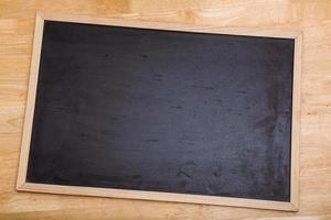 schwarze Kreidetafel mit Kopierraum foto
