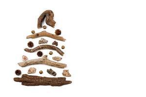 Weihnachtsbaum aus Holz - Kopierraum foto