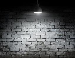 Glühbirnenlampe auf Hintergrund mit Kopierraum foto