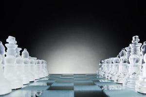 Schach von Angesicht zu Angesicht. Kopierplatz für Text. foto