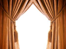 Luxusvorhang mit einem Kopierraum in der Mitte foto
