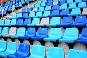 Zuschauersitz im Stadion foto