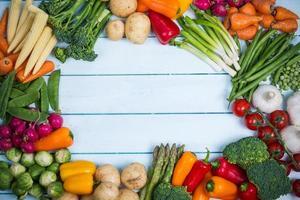 Gemüsehintergrund mit Kopierraum foto