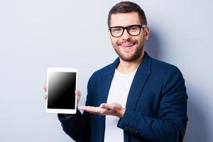 Kopieren Sie Speicherplatz auf seinem Tablet. foto