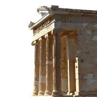 Ruinen isoliert auf weißem Hintergrund mit Kopierraum