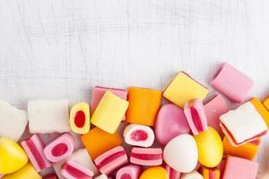 köstliche süße Süßigkeiten mit Kopierraum foto