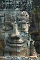 Gesichter aus dem Bajon-Tempel foto
