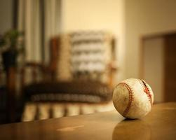 alte, antike Baseball-, Retro-Szenenserie foto