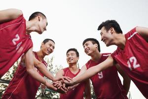 Basketball-Team Gating bereit für das Spiel foto