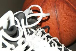 Basketball und Stiefel foto