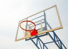 Basketballkorb und Netz foto