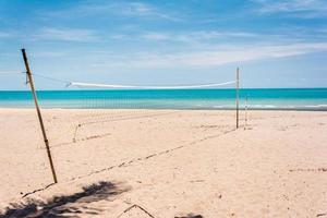 Volleyballnetz am Strand foto