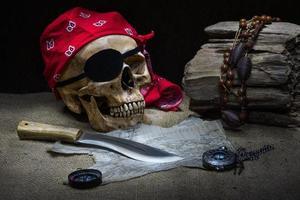 Piratenschädel foto