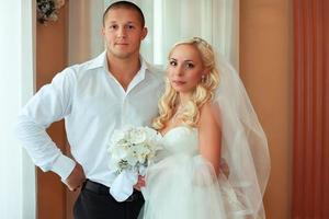 schönes Hochzeitspaar foto