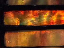 Glasmalerei; Nahansicht foto