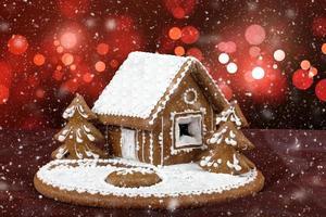 Weihnachtskuchen hautnah foto