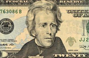 Dollar Gesicht Nahaufnahme foto