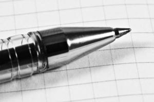 Kugelschreiber aus der Nähe foto