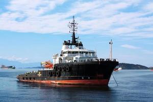 Schleppschiff Nahaufnahme foto