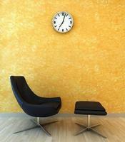 Innenszenenstuhl zum Entspannen foto