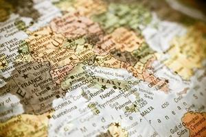 Nahaufnahme Karte Italien foto