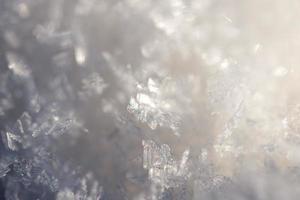 Nahaufnahme gefrorene Schneeflocken
