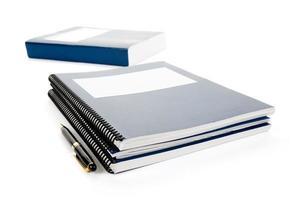 blaues Schulbuch