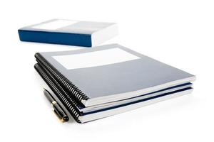 blaues Schulbuch foto