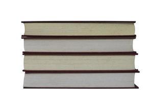 alte Bücher isoliert auf weiß foto