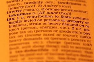 Definition der Steuer foto