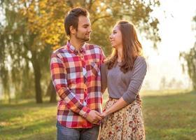 junges Paar verliebt. foto