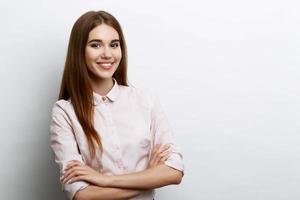 schöne junge Dame posiert foto